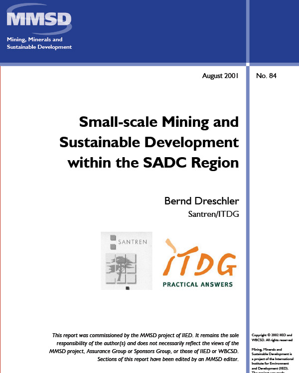 Small Scale Mining And Sustainable Development Within The
