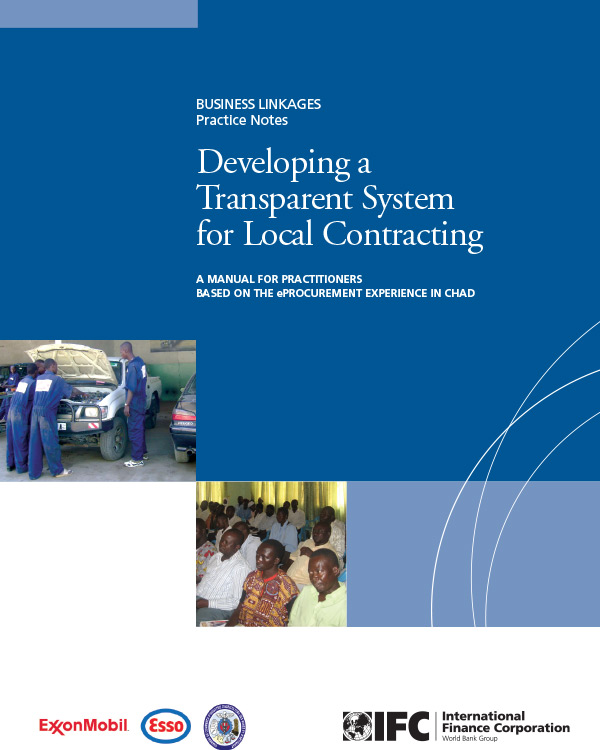 Developing a Transparent System for Local Contracting: A manual for practitioners based on the eProcurement Experience in Chad