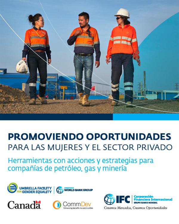 [Spanish Version] Promoviendo oportunidades para las mujeres y el sector privado: herramientas con acciones y estrategias paracompañías de petróleo, gas y minería