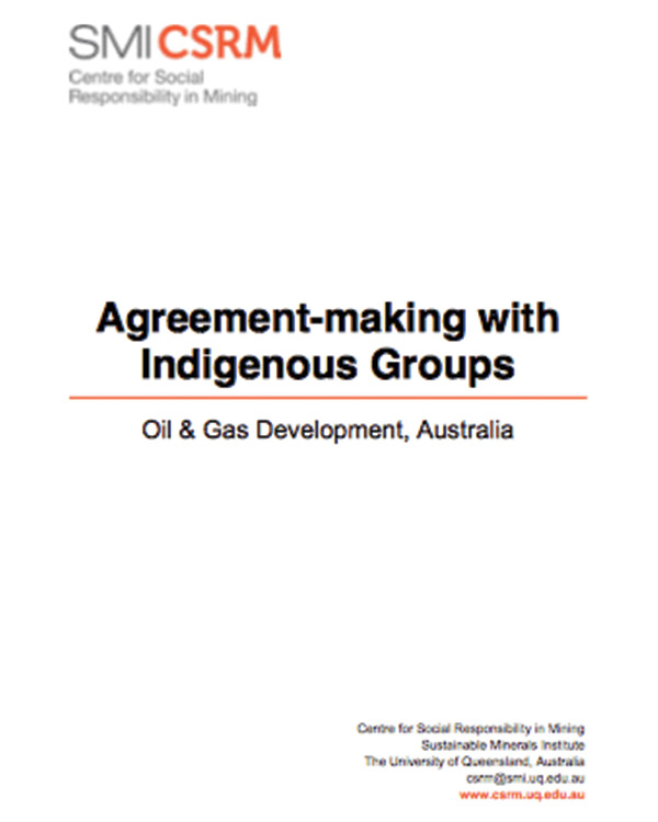Agreement-making with Indigenous Groups: Oil & Gas Development in Australia