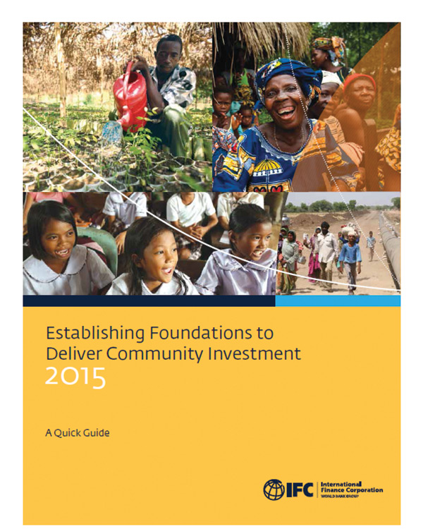 Establishing Foundations to Deliver Community Investment