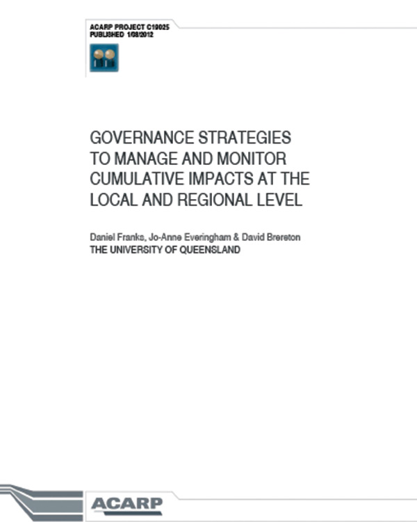 Governance Strategies to Manage and Monitor Cumulative Impacts at the Local and Regional Level
