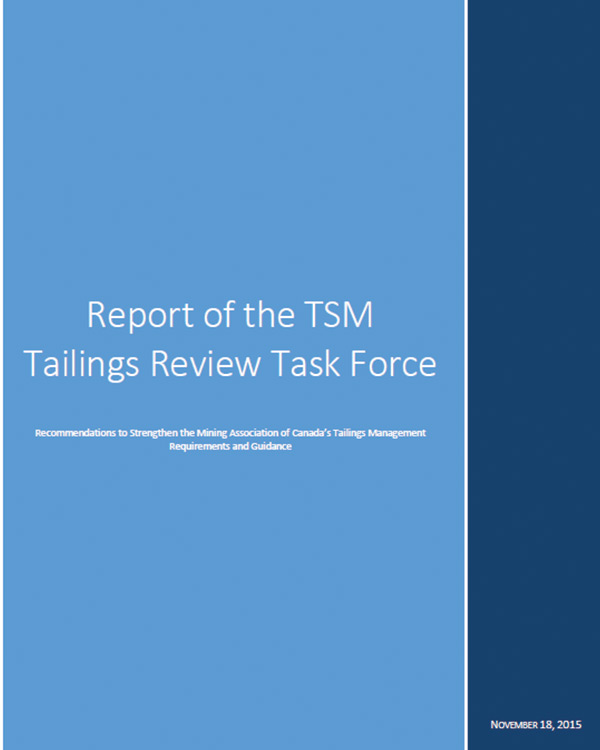 Report of the TSM Tailings Review Task Force
