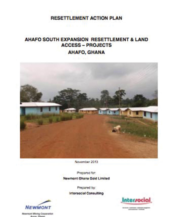Resettlement Action Plan (RAP): Ahafo South Expansion Resettlement & Land Access – Projects, Ahafo, Ghana
