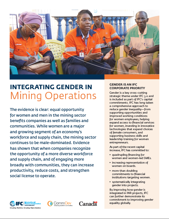 Integrating Gender in Mining Operations