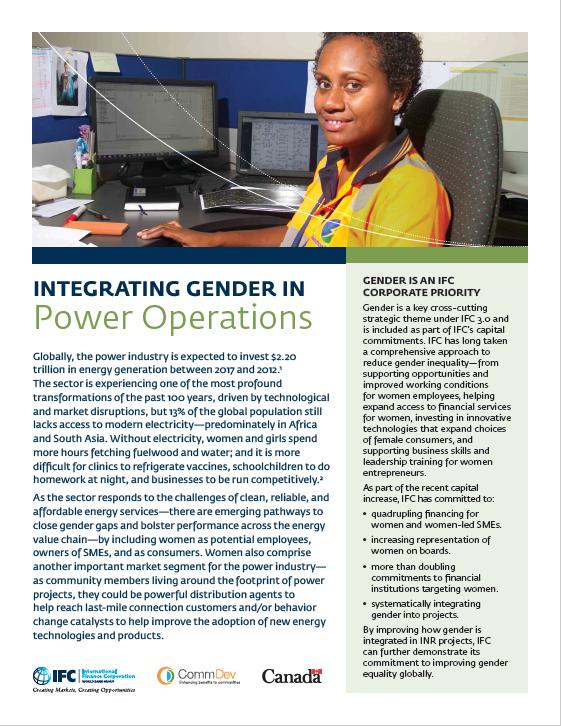 Integrating Gender in Power Operations