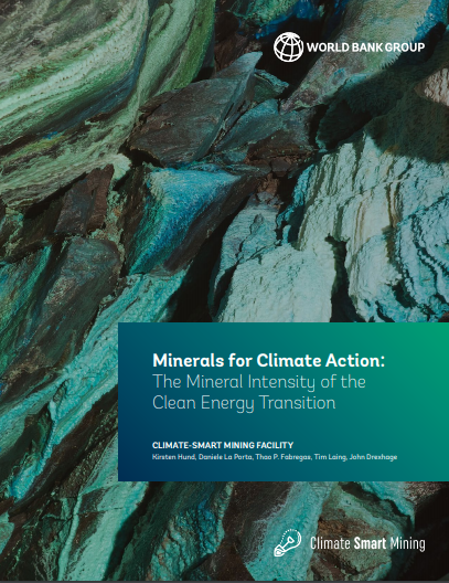 Minerals for Climate Action: The Mineral Intensity of the Clean Energy Transition