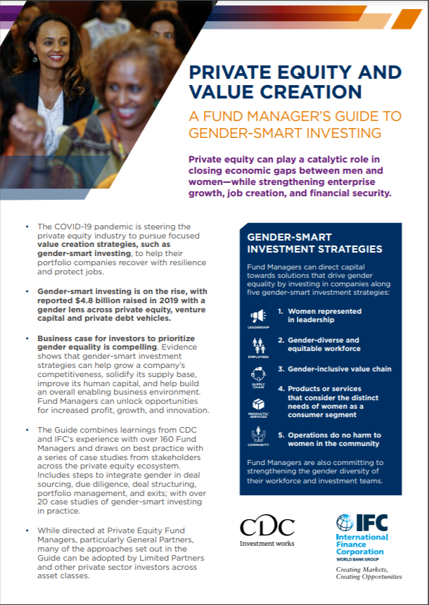Highlights: Private Equity and Value Creation: A Fund Manager's Guide to Gender-Smart Investing
